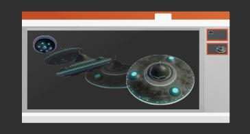 מצגת עם שקופית אחת המכילה מעבר שינוי צורה שמופעל
