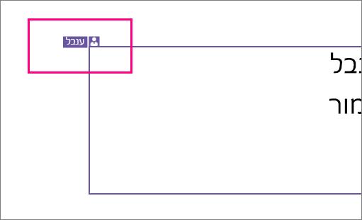 הצגת סמל המראה אדם שעובד על מקטע של שקופית ב- PowerPoint 2016 עבור Windows