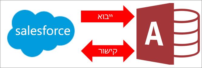 חיבור של Access ל- Salesforce