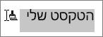 גרירת על-פני הטקסט שעליו יש להחיל להעתיק עיצוב