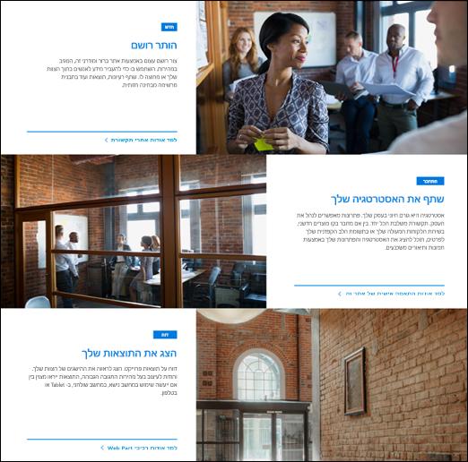Web part של תמונה בולטת של SharePoint