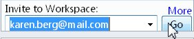 הזמנה לסביבת עבודה באמצעות כתובת דואר אלקטרוני