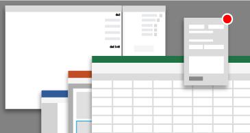 ייצוג מושגי של חלונות עורך Visual Basic ביישומים שונים