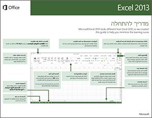 מדריך להתחלה מהירה של Excel 2013