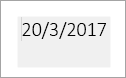 תיבה אפורה מציין שדה תאריך לעריכה