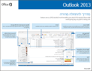 מדריך להתחלה מהירה של Outlook 2013