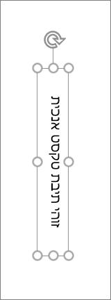 תיבת טקסט אנכית עם טקסט אנכי