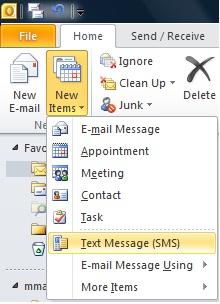 שימוש ב- Exchange Server וב- Windows Mobile לשליחת SMS
