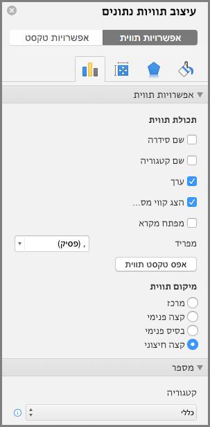'עיצוב תוויות נתונים' ב- Office עבור Mac