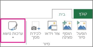 לחצן 'ערכות נושא' בכרטיסיה 'בית' של Power Map