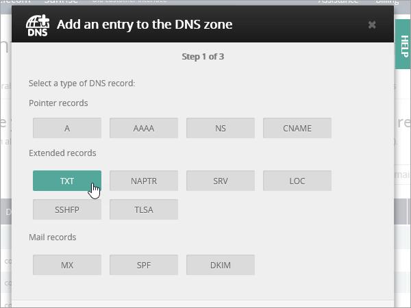 בחר OVH TXT entry_C3_2017526172412