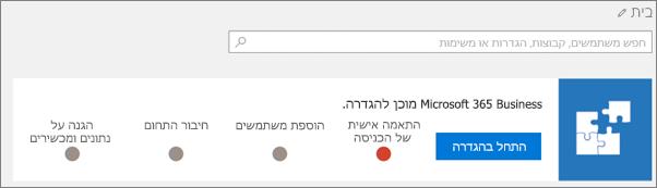 צילום מסך של אשף ההגדרה של 'חבילת ענן עסקי'.