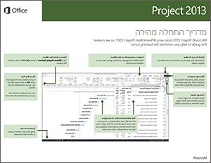מדריך להתחלה מהירה של Project 2013