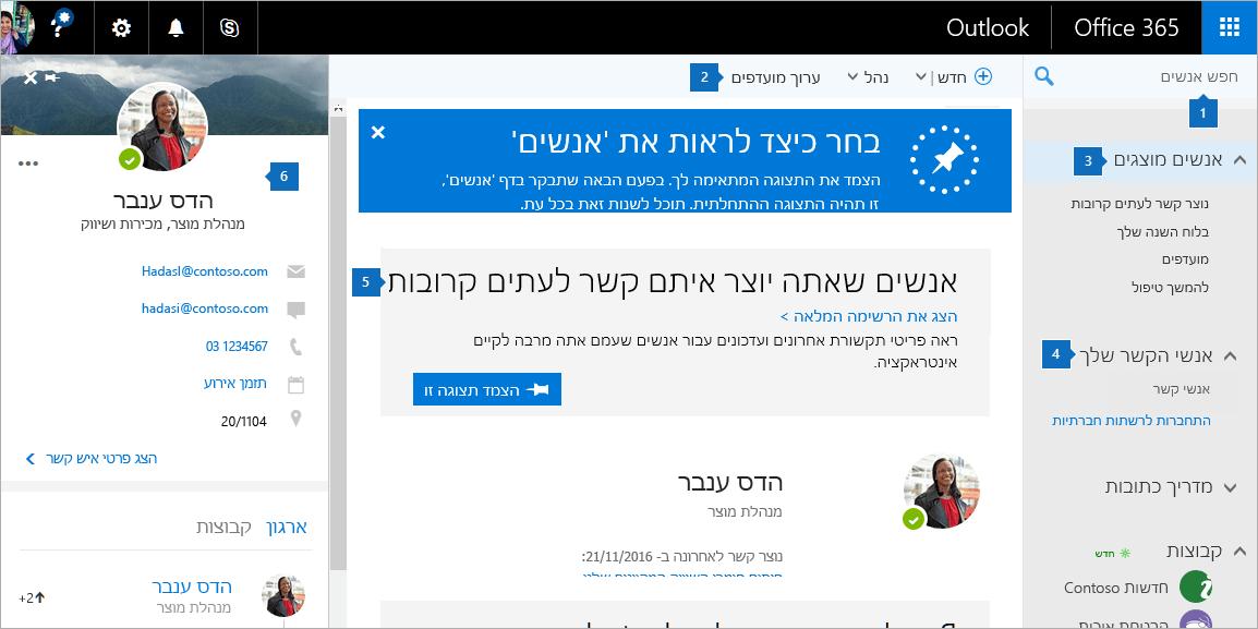 צילום מסך של הדף 'אנשים'.