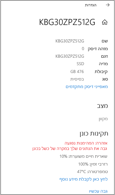 דוגמה של דף דיסק