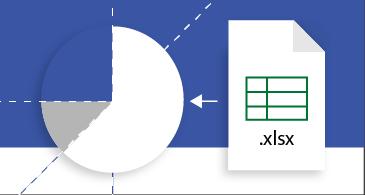 גליון עבודה של Excel שמומר לדיאגרמה של Visio