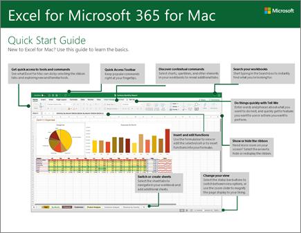 מדריך ההתחלה המהירה של Excel 2016 for Mac
