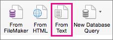 בכרטיסיה 'נתונים', בחר 'מטקסט'