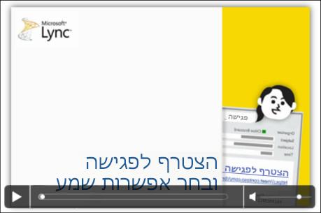 צילום מסך של שקופית PowerPoint עם פקדי וידאו