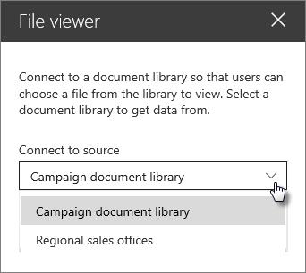 חלונית המאפיינים ' מציג הקבצים ' עם האפשרות ' התחבר למקור '
