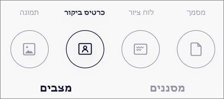אפשרויות מצב עבור סריקות תמונה ב-OneDrive עבור iOS