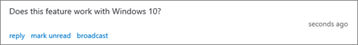 משתתף שואל שאלה מוצגים בחלונית מנחה דיון שאלות ותשובות