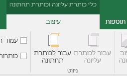 גילוי סרגל הכלים של תפריט 'עיצוב' ב- Excel