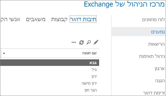 איתור תיבות דואר במרכז הניהול של Exchange כדי לתקן את DSN 5.7.134
