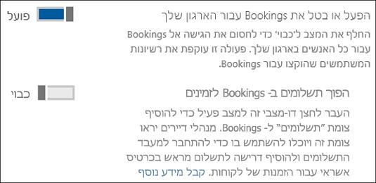 לכידת מסך: המציגה פקד הניהול הזמנות מהדף שירותים & תוספות