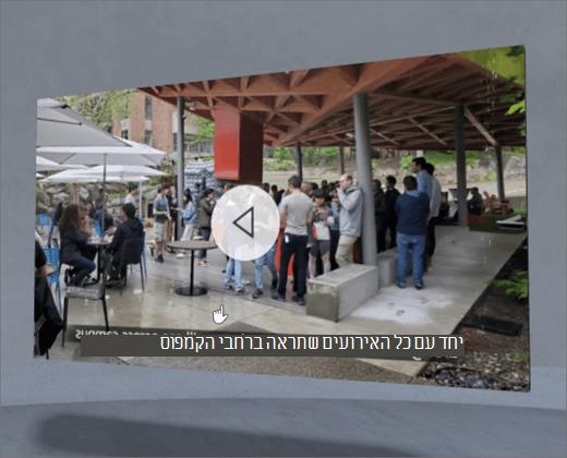 web part של וידאו דו-ממדי