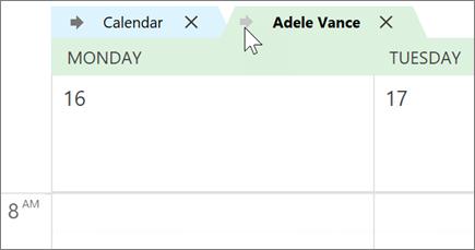 לוחות שנה שכיסה ב-Outlook