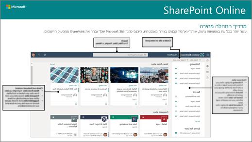 מדריך התחלה מהירה הניתן להורדה של SharePoint Online