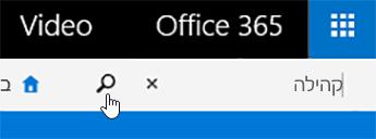 תיבת חיפוש וידאו של Office 365