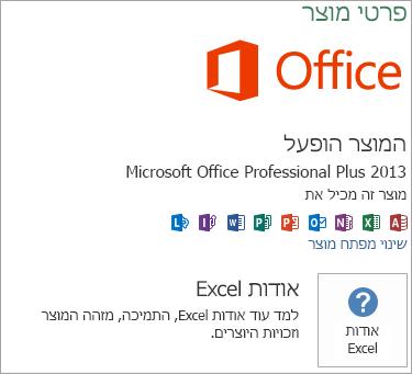 התקנת Msi של Excel