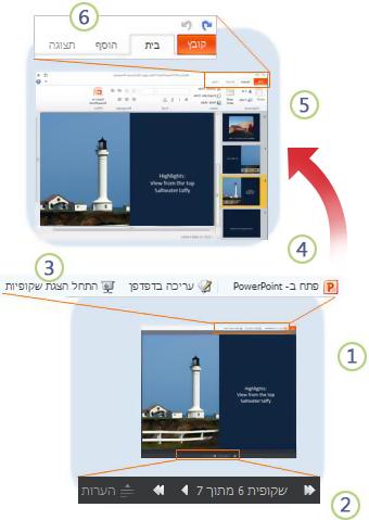 PowerPoint Web App במבט מהיר
