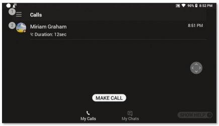 ביצוע שיחה באמצעות אפליקציית RealWear ב-Microsoft Teams