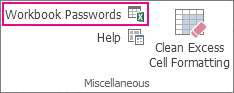 הפקודה Workbook Passwords