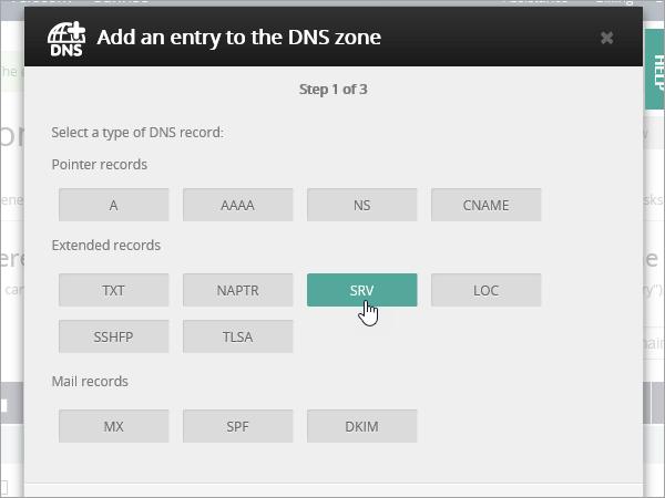 בחר OVH type_C3_2017521125535 רשומות SRV