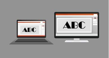אותה מצגת מעובדת ב- PC וב- Mac, ונראית זהה