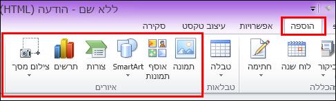 Outlook 2010: הוסף תמונה