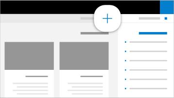 איור של יצירת אתר SharePoint