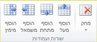 קבוצת שורות ועמודות של טבלה ב- Publisher 2010