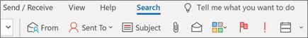 שימוש בחיפוש ב-Outlook