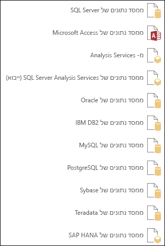 קבלת נתונים ממסד נתונים