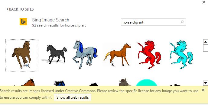 """החיפוש """"סוס clip art"""" מספק לך מגוון תמונות תחת רשיון Creative Commons."""