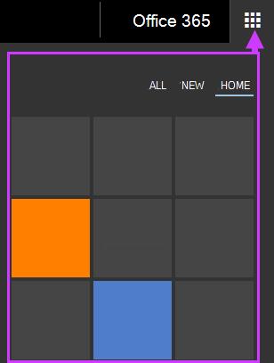 אפשרויות ניווט של Office 365