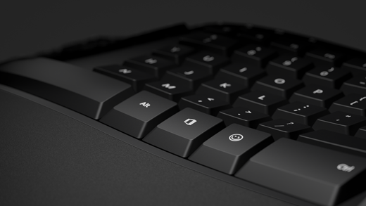 Emoji key ו-Office key closeup
