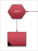 המחבר מדביק את הצורות יחד מהנקודה שבחרת.