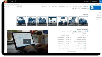 הטבעת וידאו של Office 365 באתר