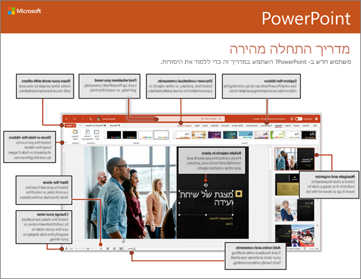 מדריך התחלה מהירה של PowerPoint 2016 (Windows)